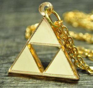Triforce Necklace and Earring Set
