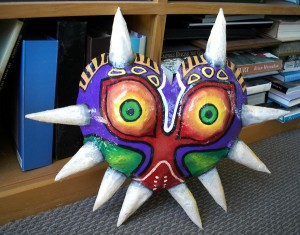 majora's Mask propped up