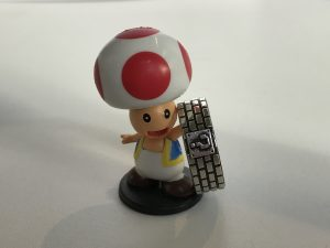 Toad poses with the ring